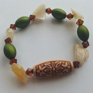 Green💚/ Brown/Yellow💛/ Tribal Bracelet